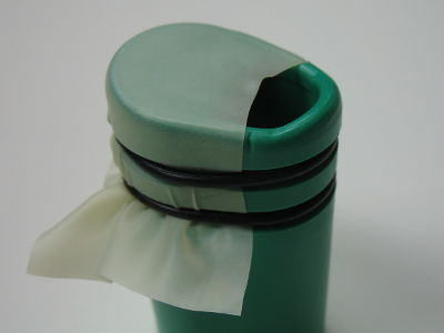 Mouthpiece with properly installed latex